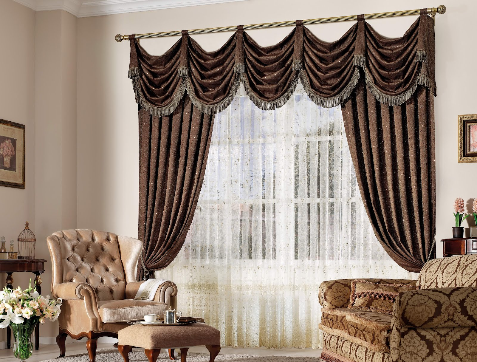 2013 yeni sezon ta perde modelleri ev dekorasyon - Latest curtains designs for living room ...