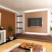 Brown Color paint for Living Room) .