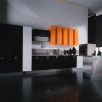 En Yeni Moda Modern Kitchen Design Elegant Dark Kitchens Orange Accent. Modelleri